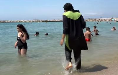 "Months after the so-called ""burkini"" started sparking controversy in Europe, French authorities have begun fining women for wearing the modest swimsuit in public. (Deseret Photo)"