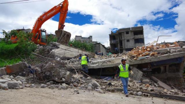 """""""During the quake, it felt like the building was going to come down because it was moving so much."""" (Deseret Photo)"""