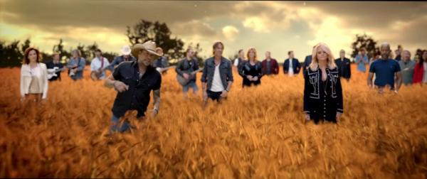 """Thirty CMA winning country acts sing """"Forever Country"""" to celebrate the 50th Annual CMA Awards. (Deseret Photo)"""
