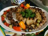 Local Dish: Grilled chicken and vegetable kabobs