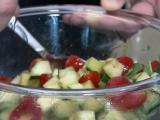Local Dish: Sweet or savory tomato and cucumber salad