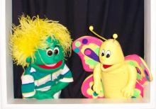 Flit and Bartlet of Kazoom Puppet Theatre