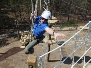 The new ropes course is at Bethesda Park on Stage Road in Durham.
