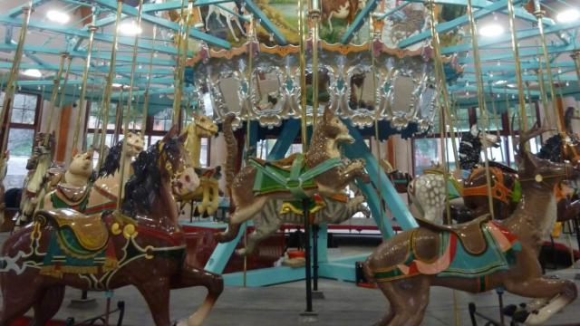 Pullen Park's carousel was completely refurbished.