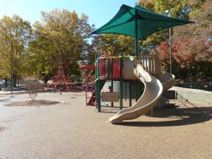 Another view of a small part of the new playground at Pullen Park.