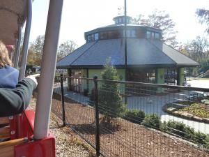 A view of the carousel house on opening weekend
