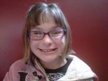 Amanda Lamb's daughter with her glasses.