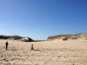 Kite flying near the Hatteras Lighthouse