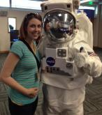 Kathy Hanrahan with a NASA astronaut