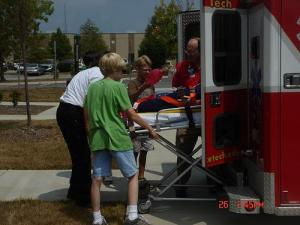 Campers participate in Wake Tech's Public Safety Careers Camp.