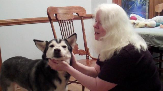 Jennifer Shryock with dog Bailey