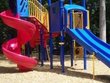 Slides at Cedar Hills Park
