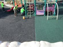 Crews work on Community Center Park playground in Chapel Hill