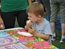 The Go Ask Mom event at North Hills was a ton of fun! We saw the First-in Fire company, made cookies with Lil' Chef of Raleigh and made cards for The Comfort Project!