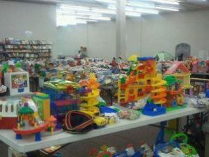 Toys at a 2012 Kidcycle consignment sale. Photo courtesy: Facebook, https://www.facebook.com/pages/Kidcycle/202545326555
