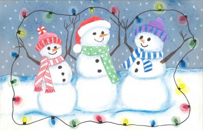 Breanna Dills created this holiday card, part of a program to raise money for Duke Children's.