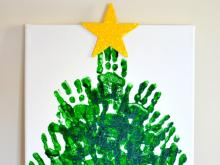 Christmas handprint tree keepsake