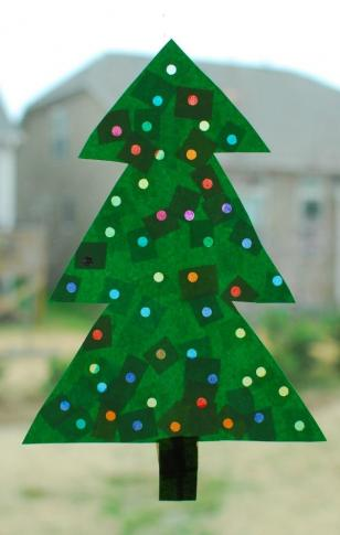 lighted Christmas tree craft