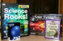 Books, games and puzzles with science themes are ideal gifts for family members to share and enjoy together.