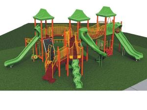 Conceptual view of new playground for kids ages 5 to 12 at Millbrook Exchange Park in north Raleigh. Courtesy: City of Raleigh Parks and Recreation Department