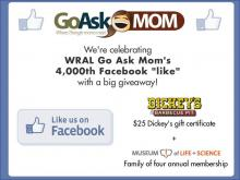 Go Ask Mom to celebrate 4,000th Facebook like