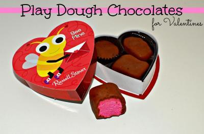 Play dough chocolates. Courtesy In Lieu of Preschool
