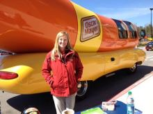 The Oscar Mayer Wienermobile will make stops at Walmarts in Raleigh and Morrisville on Saturday.