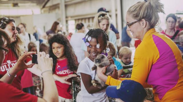Rabbits were just one of the animals that children could pet and take pictures with at the NC State Farm Animal Days 2013, held on April 10-12.
