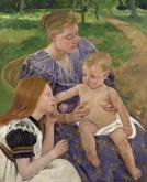 Check out family-themed paintings such as this one by Mary Cassat at the N.C. Museum of Art for Mother's Day