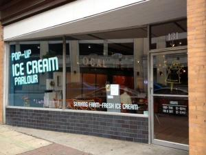 The new Pop-Up Ice Cream Parlour is open this summer in downtown Raleigh.
