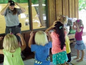 Amy Dombrowski leads a nature program at Crowder District Park.