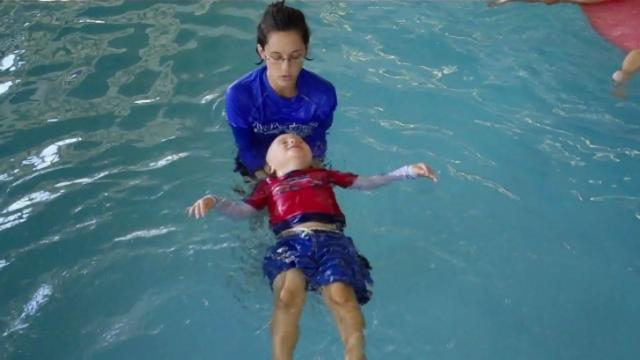 A class at Aqua-Tots in Cary