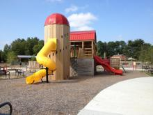 The new Knightdale Station Park in downtown Knightdale features a playground, trails, dog park, picnic areas and more. The park near the intersection of Sixth Street and North First Street opens to the public on Sept. 19.