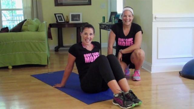 Jen Pinder and Kyle Furlow of Boot Camp Moms