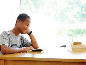 A student at The Hill Center in Durham