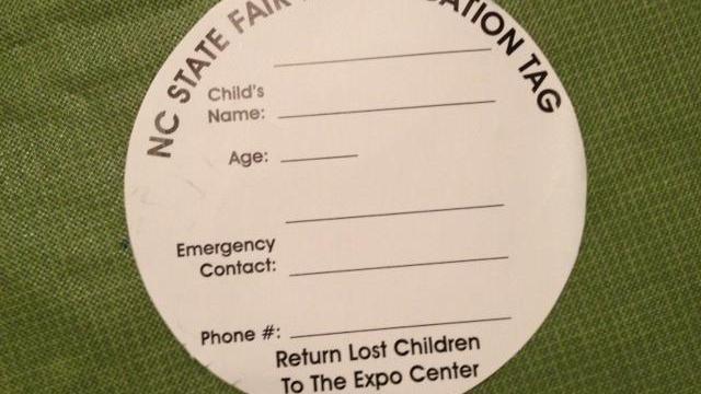 N.C. State Fair Identification Tag