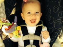 Olivia Grace Buchanan, runner-up in the 0 to 12 month category of Go Ask Mom's Cutest Baby Contest