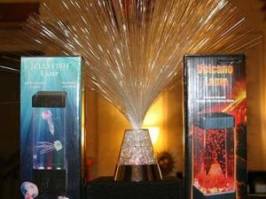 Grab one of these unusual lamps from the  gift  shop at Morehead.