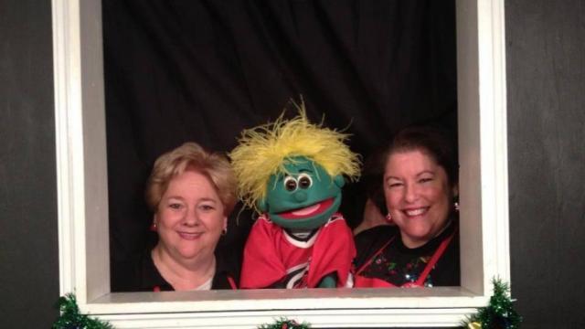 Carolyn Johnson, Bartlet and Helen Dawkins of Carolina Puppet Theater