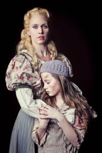 Lauren Kennedy (Fantine) and Riley Campbell (Young Cossette) in N.C. Theatre's production of Les Miserables