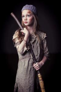 Riley Campbell as Young Cossette in N.C. Theatre's Les Miserables