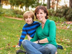 Julia Sims with son Will