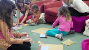 Crafts at the storytime at Quail Ridge Books & Music