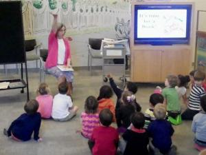 Ms. Jane leads a storytime at Cameron Village Regional Library