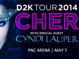 Cher and Cyndi Lauper perform at PNC Arena May 7