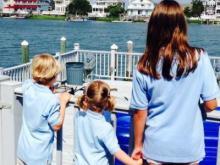 Amanda Lamb and family at the Jersey Shore.
