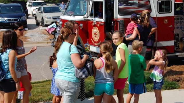 First-in Fire Company offered kids a tour of their truck.