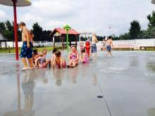 Hill Ridge Farms in Youngsville opened a new sprayground. It will be open from Memorial Day weekend to the end of September.