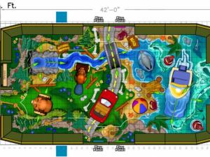 Triangle Town Center play area rendering