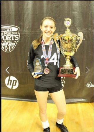 Jackie Hyland's older daughter, whose team won second place at AAU. She also won All American.